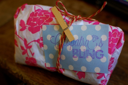 Cleopatra's Bling Christmas Wrapping