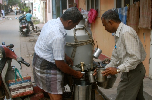 Milk man in Pondicherry
