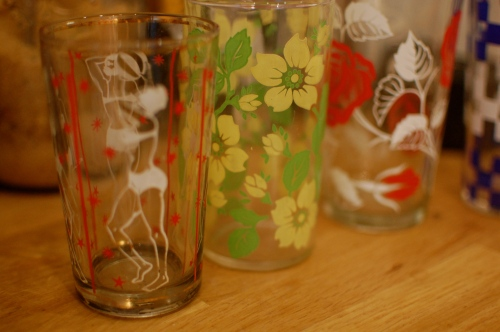 vintage glasses from Pondicherry