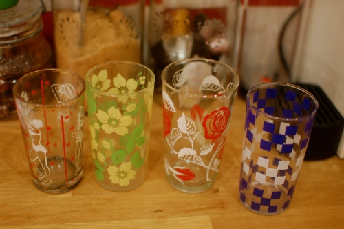 Vintage glasses from Pondicherry