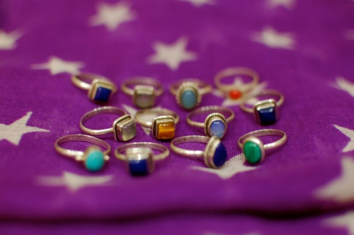 Indian silver rings