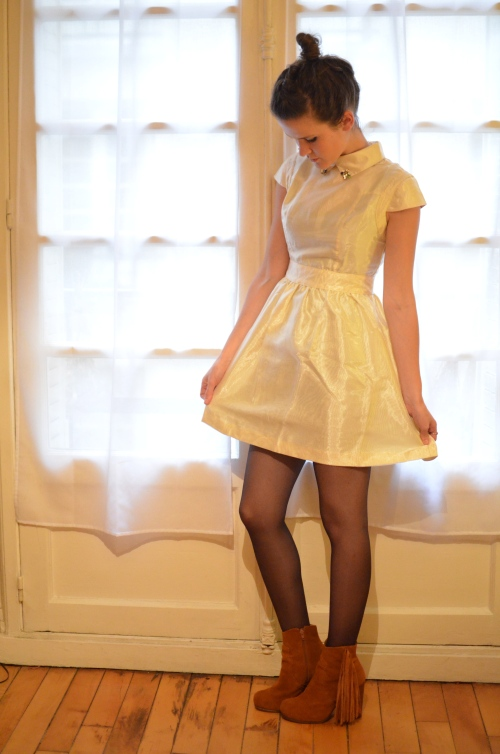 Ivory Organza Dolly Dress by ChicWish