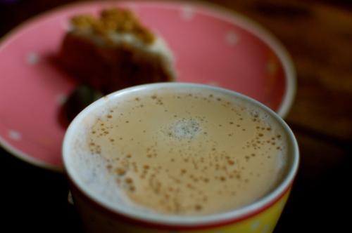 Carrot Cake and morning latté