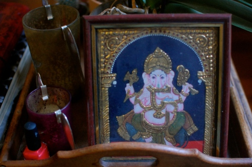 Vintage Ganesh print from India